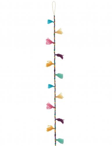 guirlande pompons et perles multicolore 120 cm d coration anniversaire et f tes th me sur. Black Bedroom Furniture Sets. Home Design Ideas