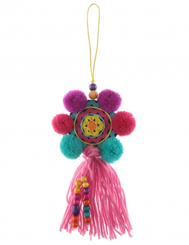 Suspension Mexicaine rond multicolore 31 cm
