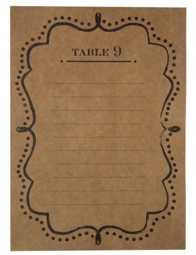 10 Plans de table en kraft 15 x 21 cm