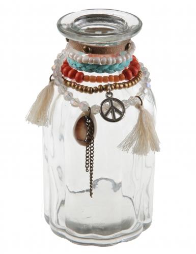 Vase en verre Mexique transparent 7 x 14 cm