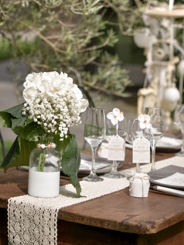 Vase en verre bicolore blanc 16 cm-1