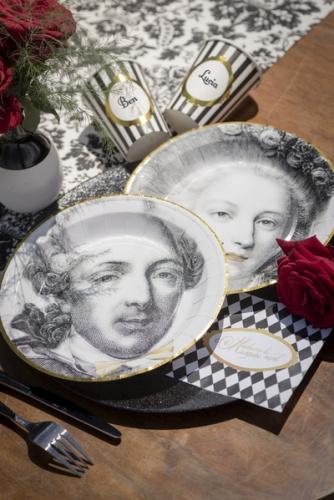 20 Petites serviettes en papier Versailles 25 x 25 cm-1