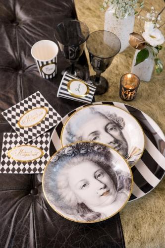 20 Petites serviettes en papier Versailles 25 x 25 cm-2