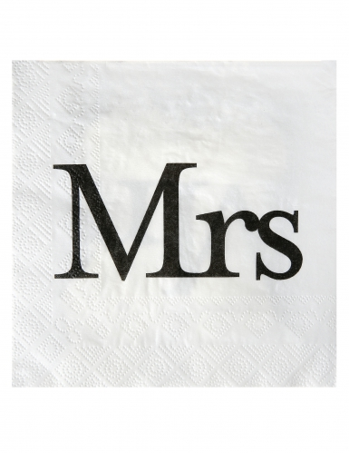 20 Serviettes en papier Mrs 33 x 33 cm