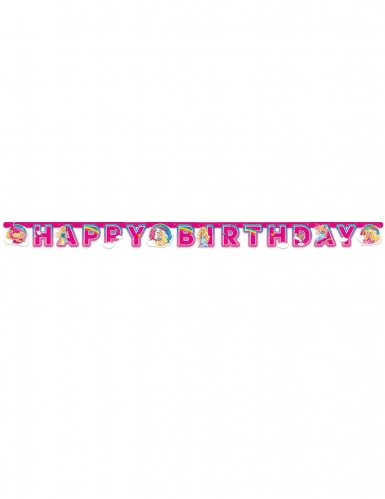 Bannière en papier Happy Birthday Barbie Dreamtopia™ 15 cm x 2 m-1