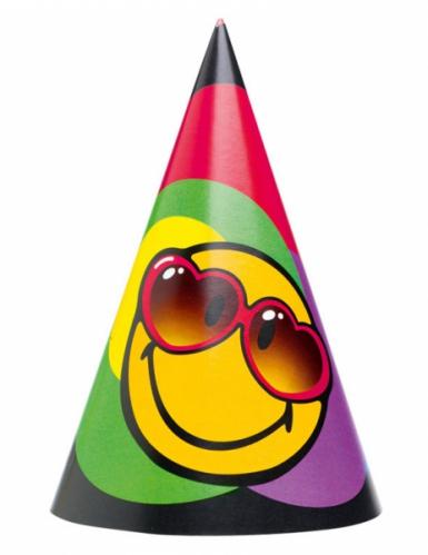 6 Chapeaux de fête Smiley World™