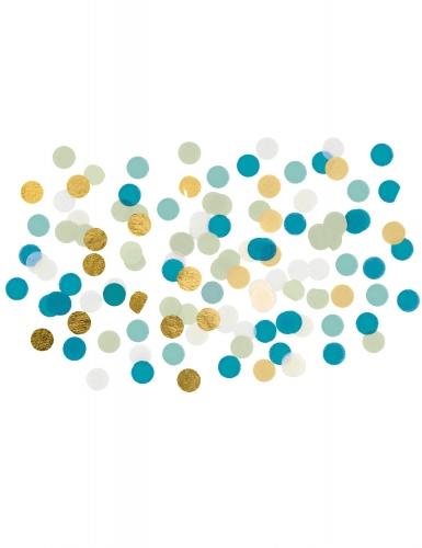 Confettis de table bleu et doré 15 g
