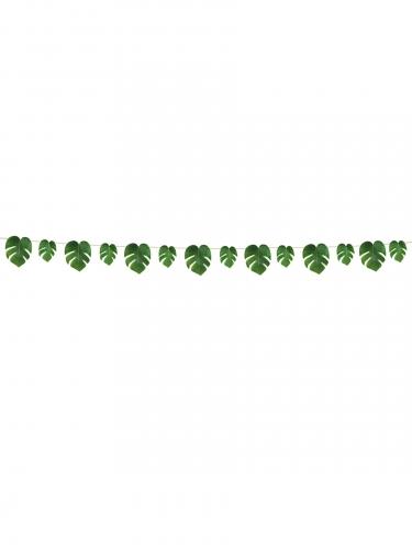 Guirlande feuilles tropicales vertes 2,74 m-1