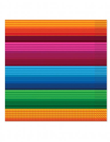 16 Serviettes en papier Mexicaine 33 x 33 cm