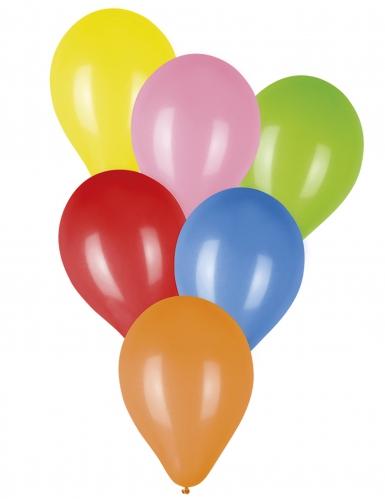 20 Ballons multicolores 23 cm
