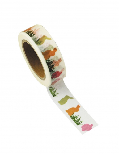 Washi tape Lapinous multicolores 10 m