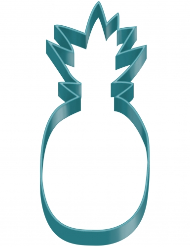 Emporte pièce en forme d'Ananas bleu
