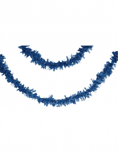 Guirlande en papier bleu marine 7 m