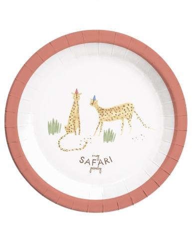 8 Assiettes en carton Safari 23 cm