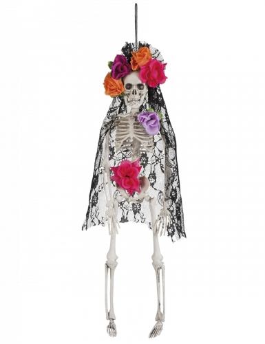 Squelette veuve mexicaine Dia de los muertos 40 cm