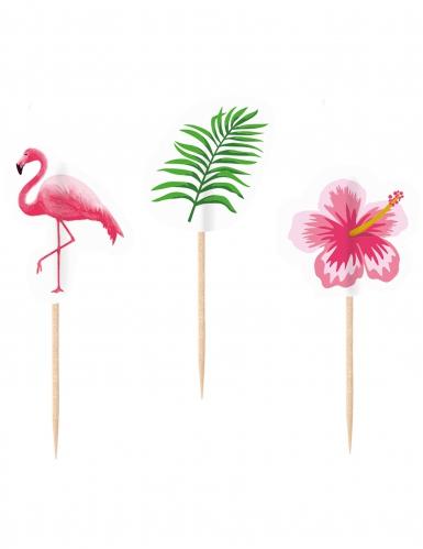20 Piques décoratifs Flamingo Paradise