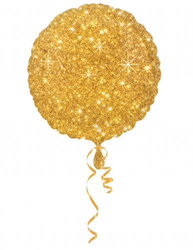 Ballon aluminium or scintillant 43 cm