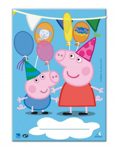 10 Sacs cadeaux Peppa Pig™ 17 x 25 cm