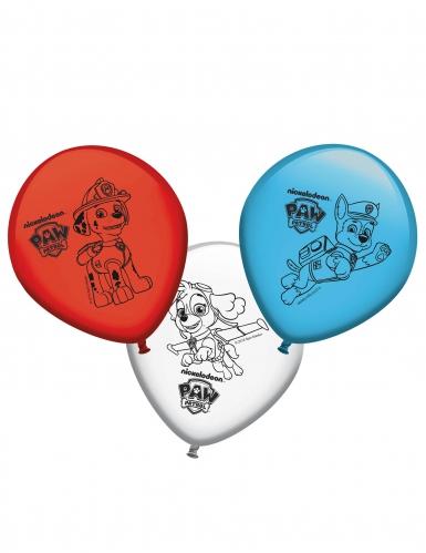 8 Ballons en latex Pat'Patrouille™ 30 cm