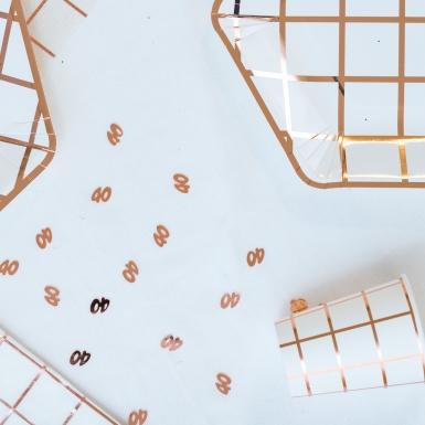 Confettis de table 40 ans rose gold 17 g-1