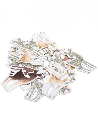 100 Confettis de table Biche 3,5 x 1,6 cm-1