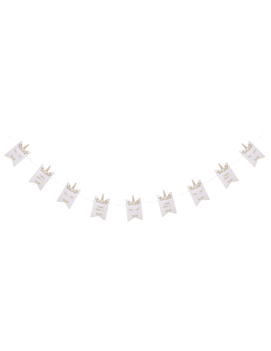 Guirlande en carton Joyeux Anniversaire Licorne 2,85 m