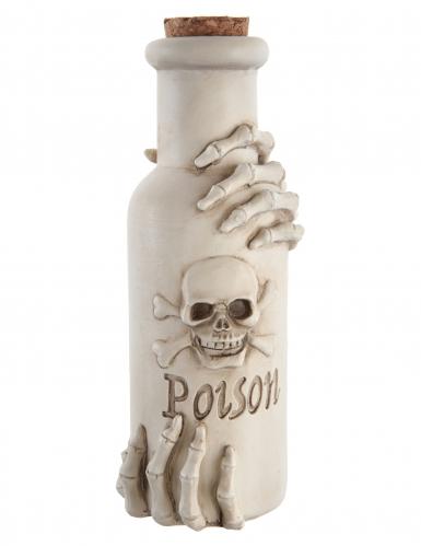 Flacon en polyrésine Poison blanc 6 x 19 cm