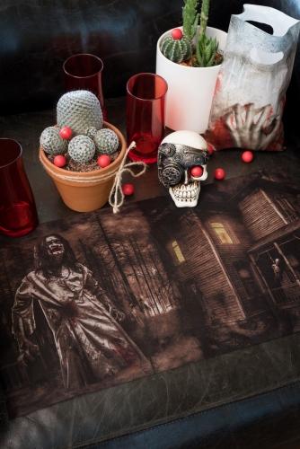 Chemin de table en tissu intissé Zombie 30 cm x 5 m-1