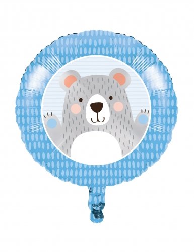 Ballon en aluminium Petit Ours Gris 45,7 cm
