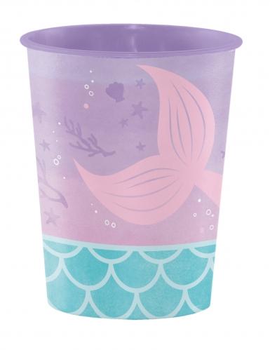 Gobelet en plastique Sirène Iridescente 473 ml