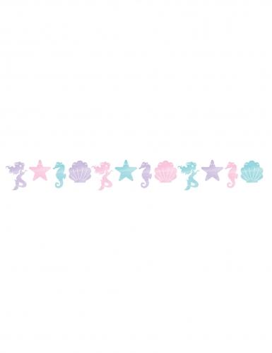 Guirlande coquillages et sirènes iridescente 15,2 cm x 1,5 m