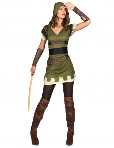 Déguisement archer vert des bois femme-1