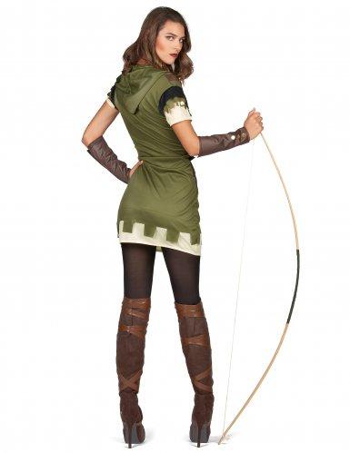 Déguisement archer vert des bois femme-2