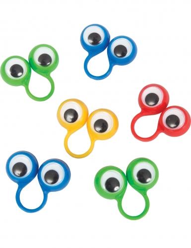 8 Accessoires piñata bague yeux globuleux
