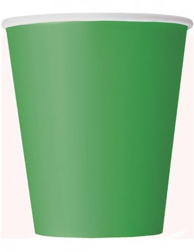 14 Gobelets en carton vert émeraude 266 ml