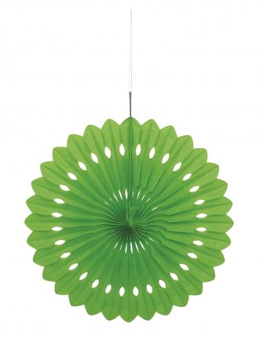 Rosace en papier vert citron 40 cm