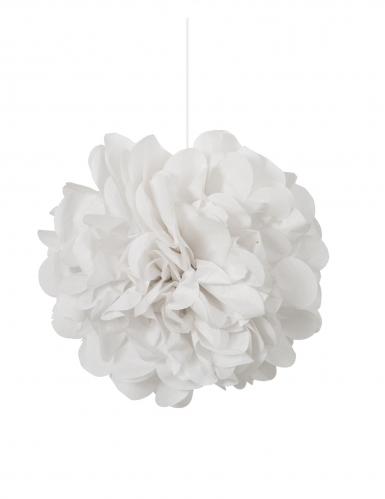 3 Pompons à suspendre en papier blancs 22 cm