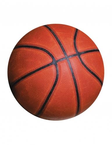 8 Cartons d'invitation Ballon de basket 11,4 cm