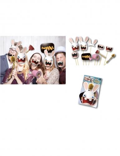 Kit photobooth Lapins Crétins™ 10 accessoires