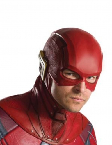 Demi masque en latex Flash Justice League™ adulte