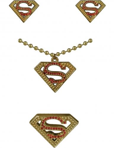 Kit boucles d'oreilles, collier et bague Supergirl™