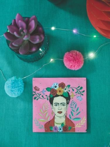 16 Petites serviettes en papier Frida 25 x 25 cm-1