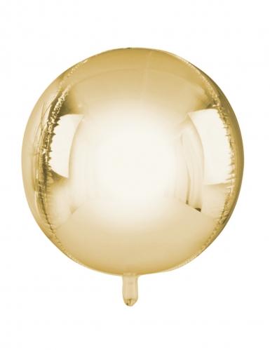 Ballon rond en aluminium doré métallisé 38 cm