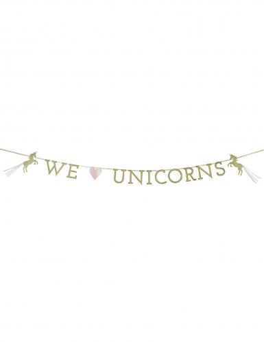 Guirlande en carton We love Unicorns 3 m