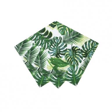 20 Petites serviettes en papier Tropical vert 25 x 25 cm-1