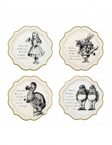 12 Assiettes en carton Alice au Pays imaginaire 23 cm