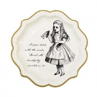12 Assiettes en carton Alice au Pays imaginaire 23 cm-2