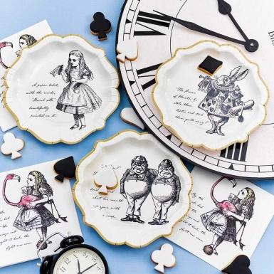 12 Assiettes en carton Alice au Pays imaginaire 23 cm-4