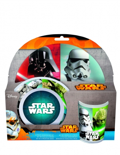 Set 3 pièces déjeuner en plastique mélaminé Star Wars™