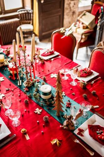 23 Petites décorations de table Noël paillettes dorées-2